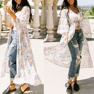 Dandelion Daydreams Long Kimono